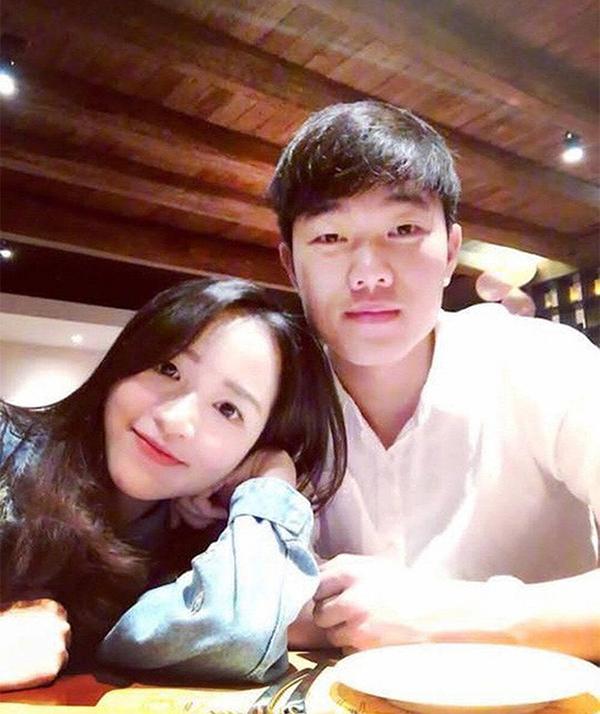 Xuân Trường và bạn gái Nhuệ Giang. Ảnh: Instagram.
