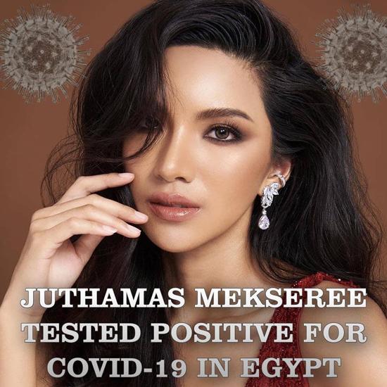 Người đẹp Thái Lan Juthamas Mekseree mắc Covid-19 sau khi tham dự Miss Eco International ở Ai Cập.