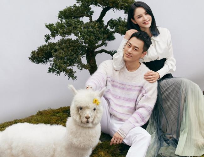 Lâm Phong và vợ trên tạp chí.