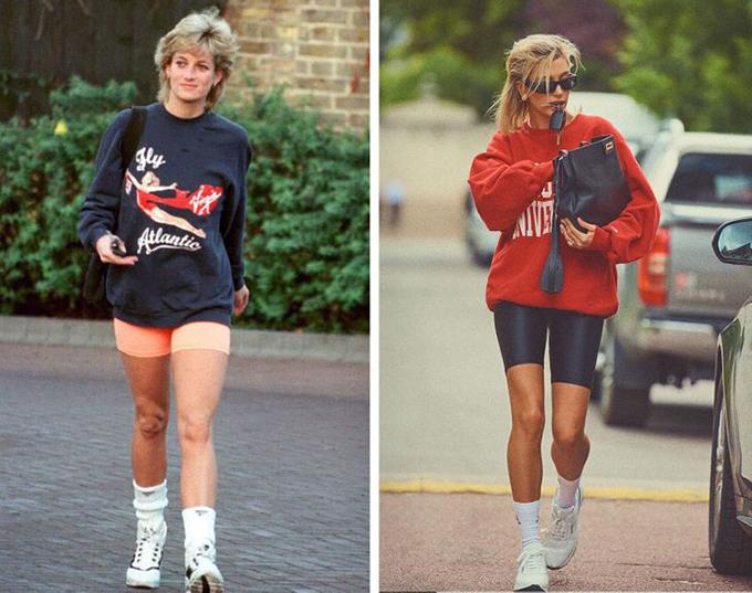 Princess Diana 1997 Hailey Bieber 2019