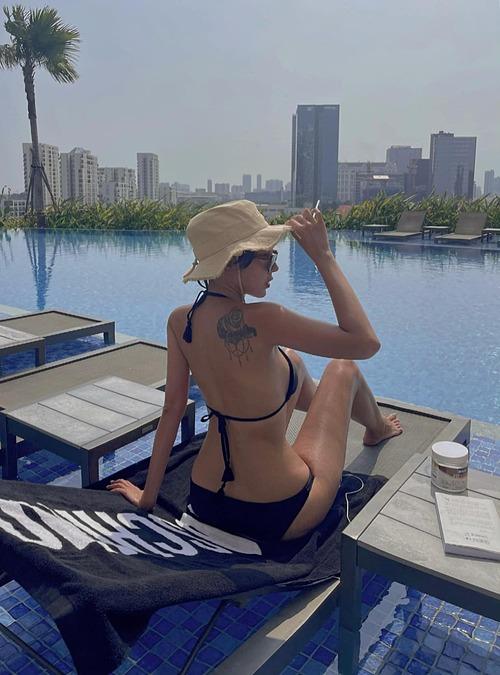 Body nóng bỏng của người mẫu Minh Triệu - người tình tin đồn của hoa hậu Kỳ Duyên.