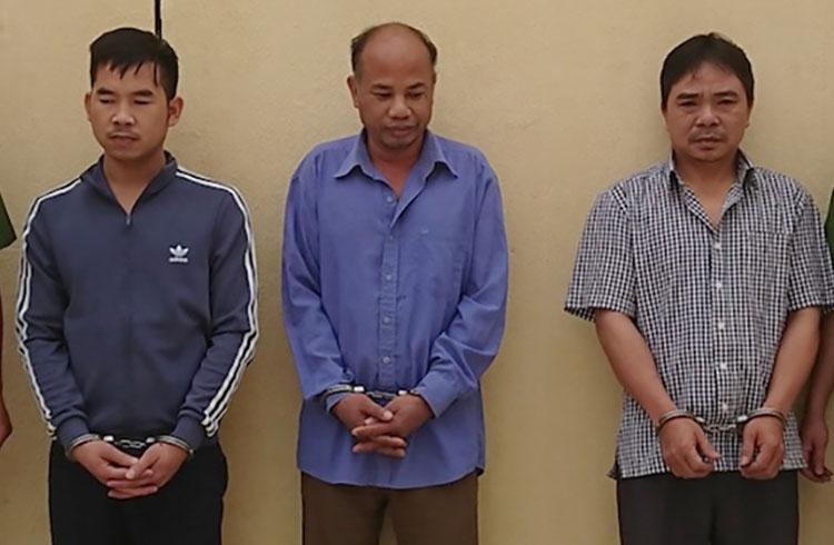 3 nghi can bị tạm giữ tại cơ quan điều tra. Ảnh: Công an cung cấp.