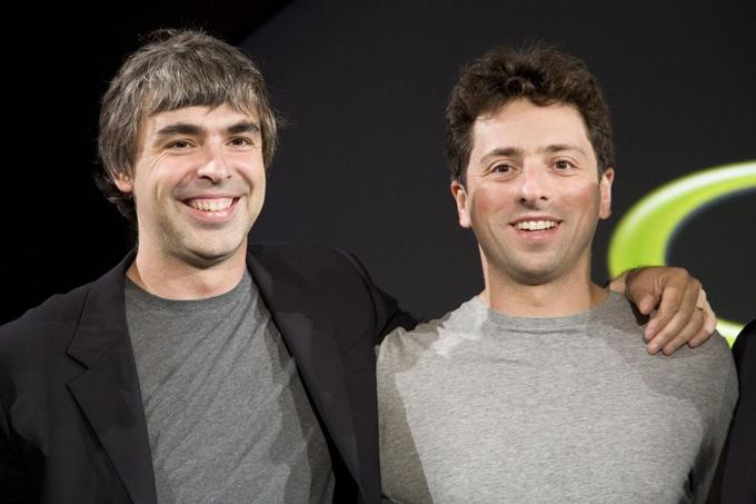 Hai nhà đồng sáng lập Google Larry Page (trái) và Sergey Brin. Ảnh: Bloomberg.