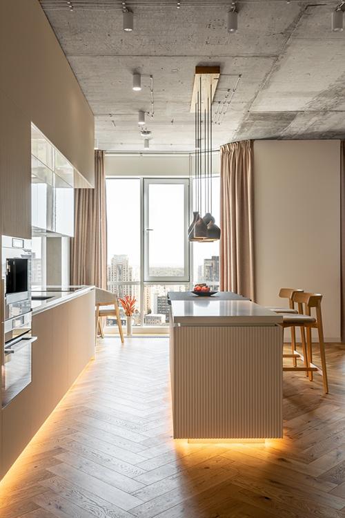 Cô muốn có căn hộ sinh thái với vật liệu tự nhiên, công nghệ hiện đại được kết hợp hài hòa, thiết kế tinh tế nhấn mạnh nét độc đáo của không gian.