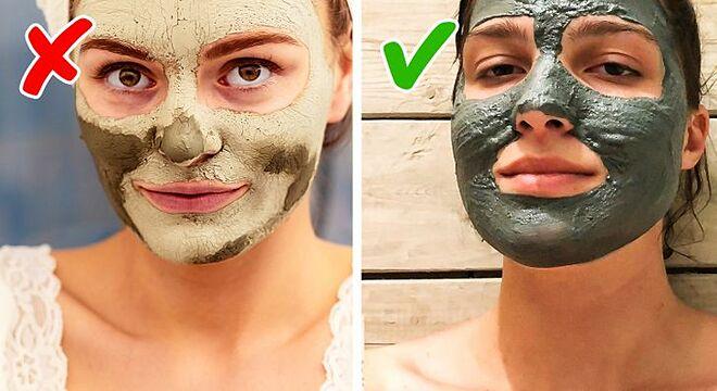 Không nên chờ mặt nạ đất sét khô trên da rồi mới rửa sạch.
