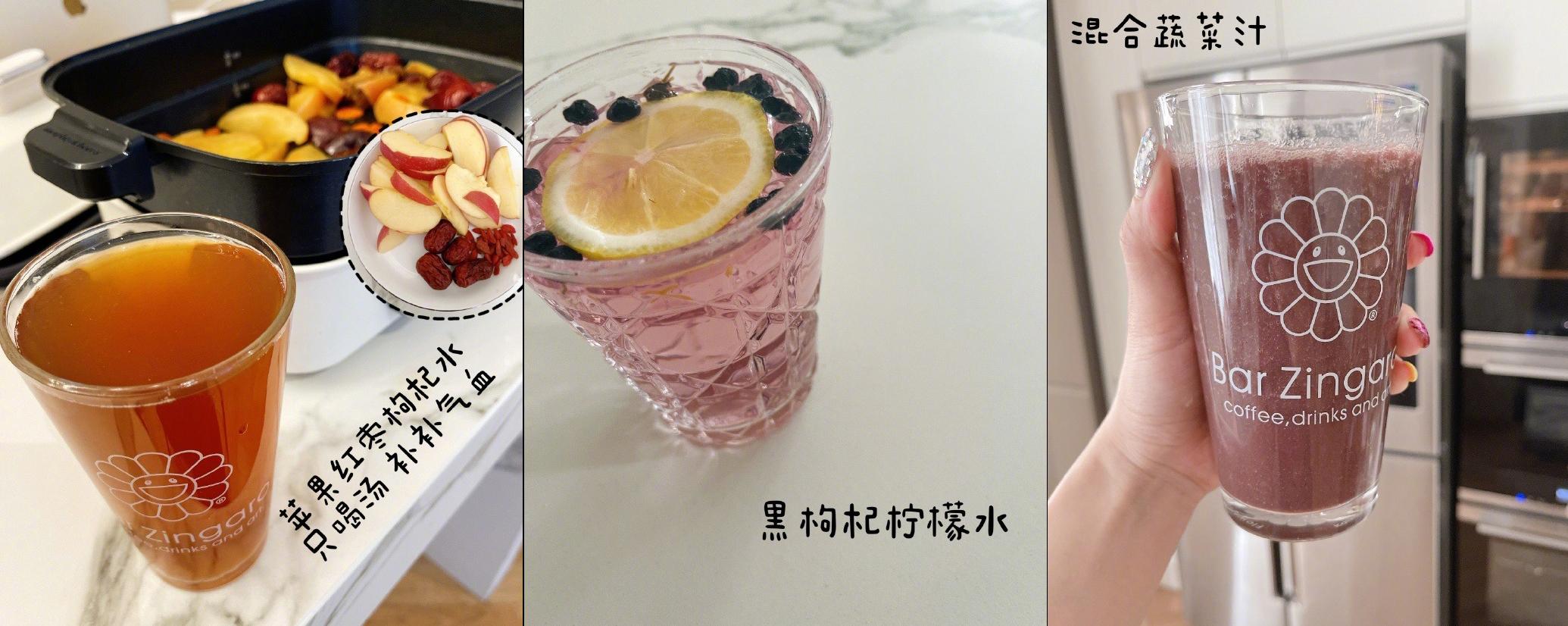 Ngoài nước lọc, Weitong vẫn uống cà phê, các loại nước detox từ trái cây, nước uống chức năng...