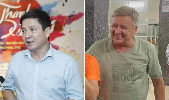 Nghệ sĩ Chí Trung bất ngờ khi tình cờ gặp người đàn ông Tây có vẻ ngoài khá giống mình.
