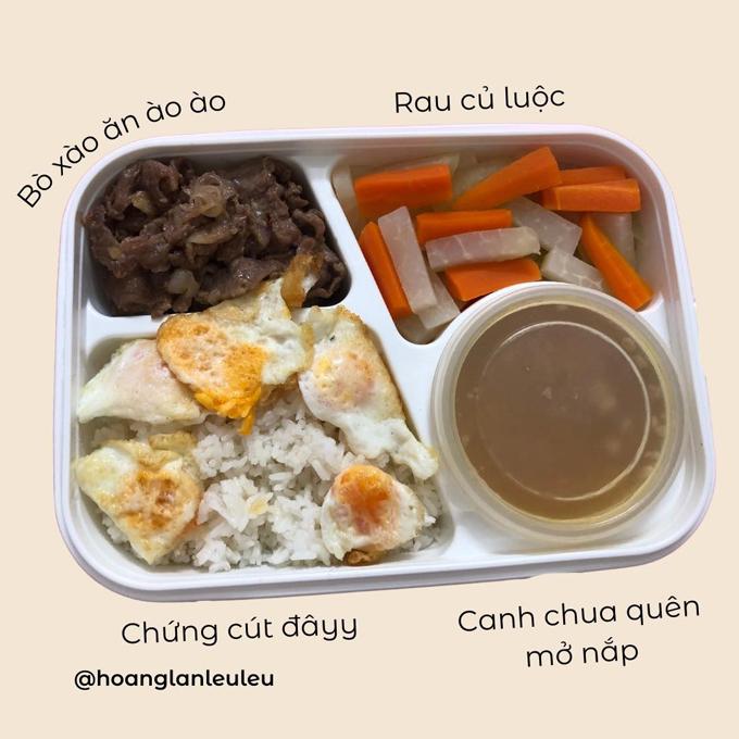 Bác Oanh hay làm món trứng cút cho gia đình nên hộp cơm của Lan cũng thường có món này.