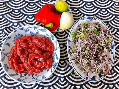 Salad rau mầm thịt bò - 2