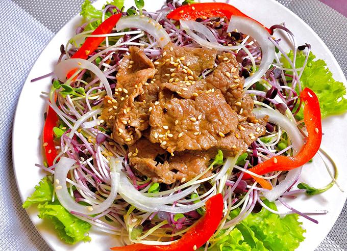 Salad rau mầm thịt bò - 5