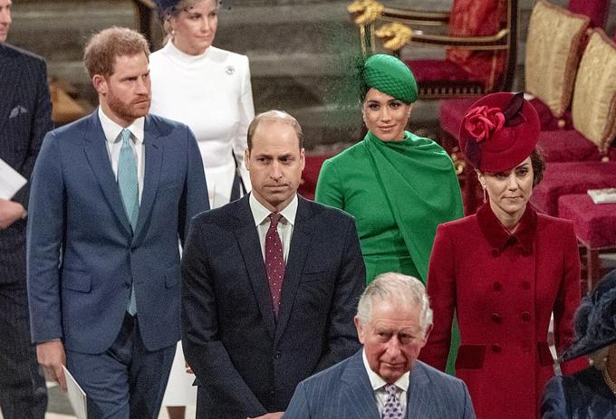 Nhà Cambridge và nhà Sussex trong ngày lễ của Khối thịnh vượng chung hôm 9/3/2020. Ảnh: Rex.