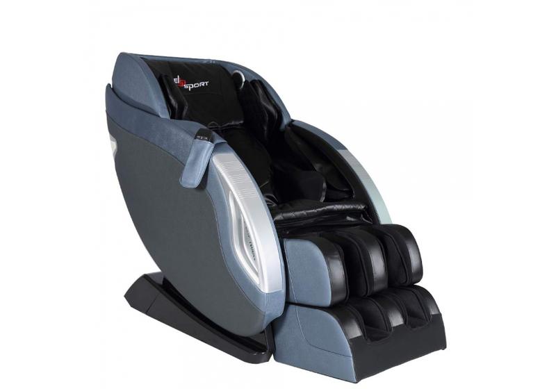 Ghế massage Elip Nobelmàu xanh navy có khung bằng thép, một số bộ phận bằng nhựa và bọc da PU. Kích thước 140 x 80 x 103 cm không chiếm quá nhiều không gian. Ghế có tính năng dò quét tự động huyệt đạo, massage không trọng lực, massage theo công nghệ 3D với các thao tác nhào và gõ, shiatsu và con lăn massage vùng lưng linh động giúp giảm cân thẳng mệt mỏi, thúc đẩy tuần hoàn máu, hỗ trợ điều trị các căn bệnh đau nhức xương khớp. Ghế có thể kết nối với thiết bị di động bằng Bluetooth để phát nhạc qua loa hifi được trang bị sẵn. Giá gốc 55 triệu đồng, hiện ưu đãi 27% còn 39,9 triêu đồng.