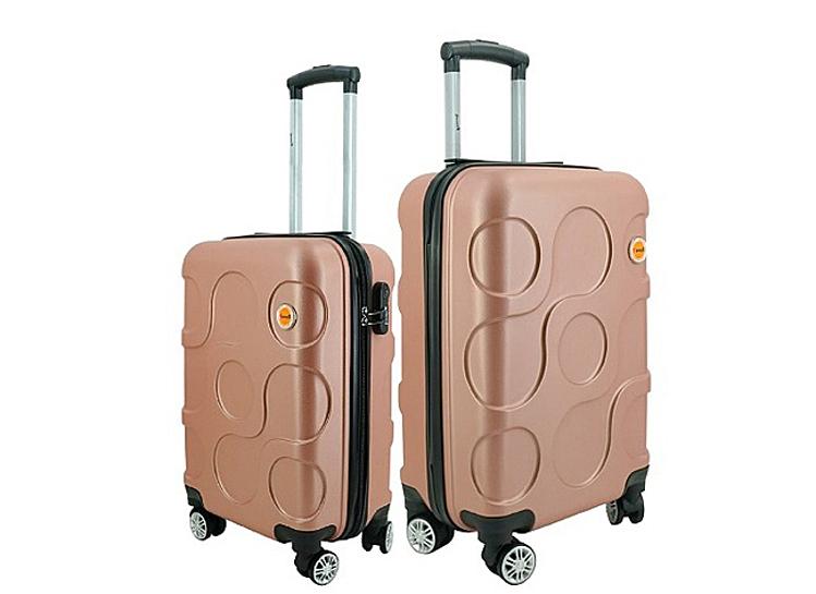 Bộ 2 vali Immax X12size 20 (50 x 35 x 22 cm) và 24 inch (60 x 40 x 27 cm). Sản phẩm có các màu xanh nõn chuối và vàng hồng, đang được ưu đãi 53% còn 655.000 đồng.