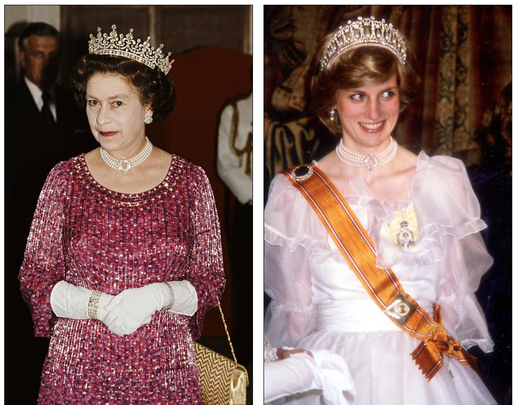 Nữ hoàng Anh, Công nương Diana cũng từng sử dụng món trang sức này trong những bữa tiệc trang trọng.