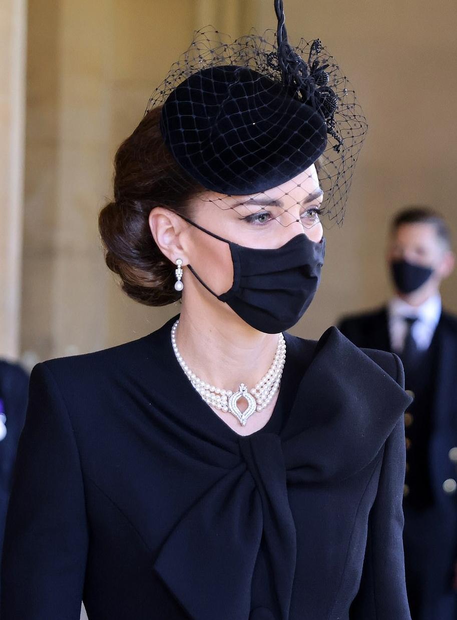 Công nương Kate Middleton tại lê tang Hoàng thân Philip.