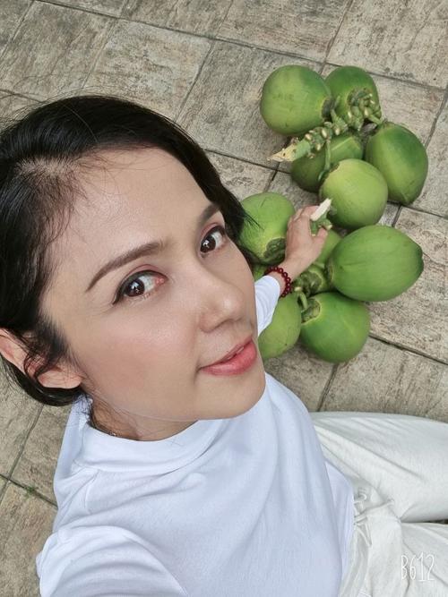 Suốt nhiều năm qua, Việt Trinh đã gây dựng được một khu vườn có diện tích 3.000 m2 ở Bình Dương. Cô trồng nhiều loại cây ăn trái và cả các loại rau sạch cho bữa ăn hàng ngày. Nhiều cây được bạn bè tặng.