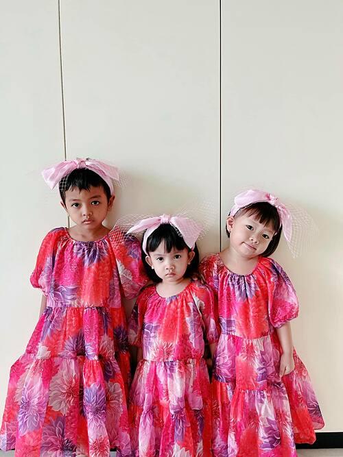Ba con gái nuôi Linh Đan, My My, Sóc của NTK Đỗ Mạnh Cường trong bộ sưu tập mới nhất của SIXDO.