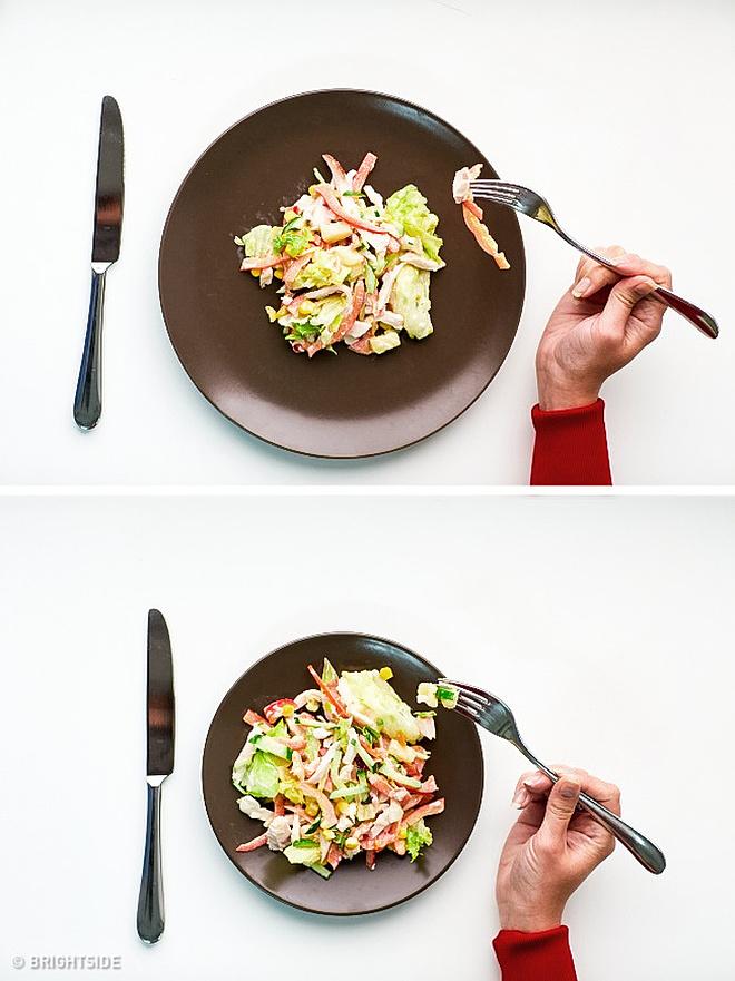 Dùng bát đĩa nhỏ giúp bạn có cảm giác mình đã ăn rất nhiều.