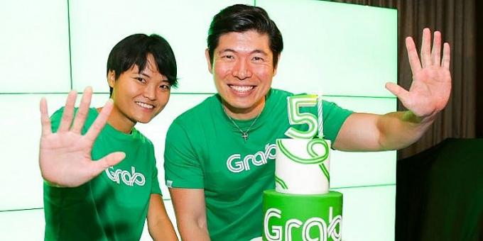 Hai nhà đồng sáng lập Anthony Tan, Hooi Ling Tan. Ảnh: Grab.