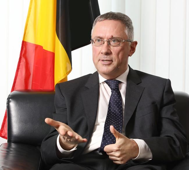 Ông Peter Lescouhier - Đại sứ Bỉ tại Hàn Quốc. Ảnh: