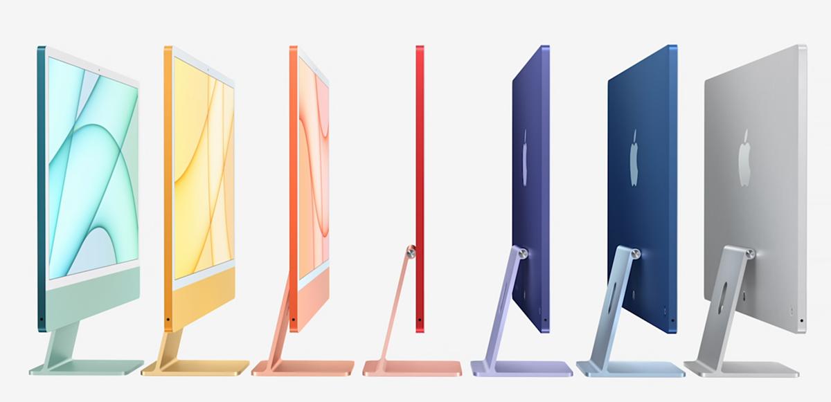 iMac mới với nhiều màu sắc trẻ trung.