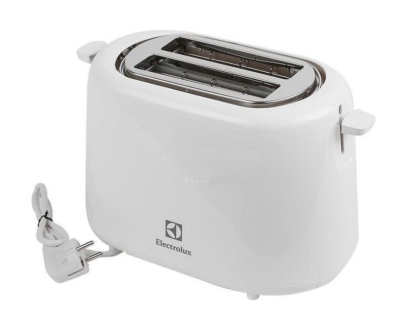 Máy nướng bánh mìElectrolux ETS1303W công suất 930 W, với kích thước 17 x 30 x 18 cm, dây điện dài 104 cm, có thể tận dụng nhiều vị trí trong nhà bếp. Máy cung cấp 7 chế độ nướng cùng chức năng rã đông. Vỏ máy bằng nhựa, máy cấu tạo hình thang, phía trên là hai khay nướng có nắp, hai bên là nút bật khe nướng và cần khởi động, phía dưới là bảng điều khiển nhiệt độ và khay đựng vụn bánh bên. Sản phẩm đang được bán với giá ưu đãi 39% là 385.000 đồng