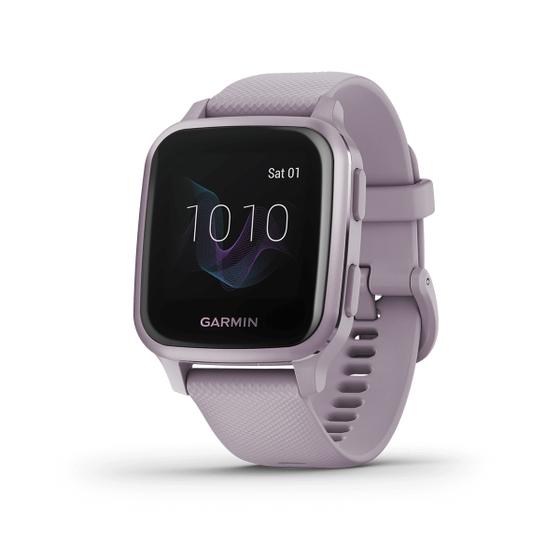 Đồng hồ thông minh Garmin Venu Sq - Tím nhạt 4.294.000đ(- 14 %)Xuất xứ :    MỹBảo hành :    12 thángMàu sắc :    Xám,Trắng,Đen,Tím nhạtĐặc điểm nổi bật của Đồng hồ Garmin Venu SQ- Phù hợp với cổ tay có chu vi từ 125-190 mm- Xem mọi thứ rõ ràng trên màn hình màu tươi sáng có chế độ luôn bật, hoàn hảo để xem nhanh- Sức khỏe rất quan trọng đối với bạn, vì vậy hãy theo dõi mọi thứ từ mức năng lượng Pin trong cơ thể, hô hấp, hydrat hóa và căng thẳng đến giấc ngủ, chu kỳ kinh nguyệt, nhịp tim ước tính và hơn thế nữa- Tìm những cách mới để tiếp tục vận động với hơn 20 ứng dụng thể thao được tải sẵn, bao gồm đi bộ, chạy, đạp xe, hít thở có chánh niệm, bơi lội, chơi gôn và nhiều ứng dụng khác- Sử dụng các bài tập được tải trước bao gồm tim mạch, yoga, sức mạnh và thậm chí cả Pilates, tạo của riêng bạn trong ứng dụng Garmin Connect (yêu cầu ứng dụng trên điện thoại thông minh tương thích)- Không bao giờ bỏ lỡ cuộc gọi, tin nhắn văn bản hoặc cảnh báo trên mạng xã hội với các thông báo thông minh được gửi ngay đến cổ tay của bạn (khi được ghép nối với điện thoại thông minh tương thích)- Để tiền mặt và thẻ của bạn ở nhà; Thanh toán không tiếp xúc Garmin Pay (với mạng thanh toán được hỗ trợ) cho phép bạn thanh toán các giao dịch mua khi đang di chuyển- Các tính năng an toàn và theo dõi bao gồm phát hiện sự cố (trong các hoạt động được chọn) và thông báo, cả hai đều gửi vị trí trực tiếp của bạn đến các liên hệ được chỉ định (khi được ghép nối với điện thoại thông minh tương thích)- Cá nhân hóa đồng hồ của bạn với hàng nghìn mặt đồng hồ, ứng dụng và tiện ích miễn phí từ Connect IQ Store của chúng tôi (khi được ghép nối với máy tính hoặc điện thoại thông minh tương thích của bạn được tải xuống bằng ứng dụng Connect IQ Store)- Sử dụng lâu hơn chỉ với một lần sạc với thời lượng pin lên đến 6 ngày ở chế độ đồng hồ thông minh và lên đến 14 giờ ở chế độ GPS
