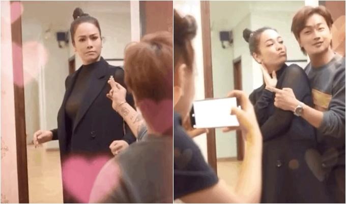 Hình ảnh khiến Nhật Kim Anh vướng tin đồn sắp tái hôn. Ảnh cắt từ video