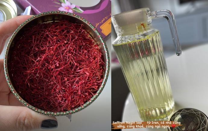 Phạm Quỳnh Anh chăm uống saffron dưỡng nhan - 2