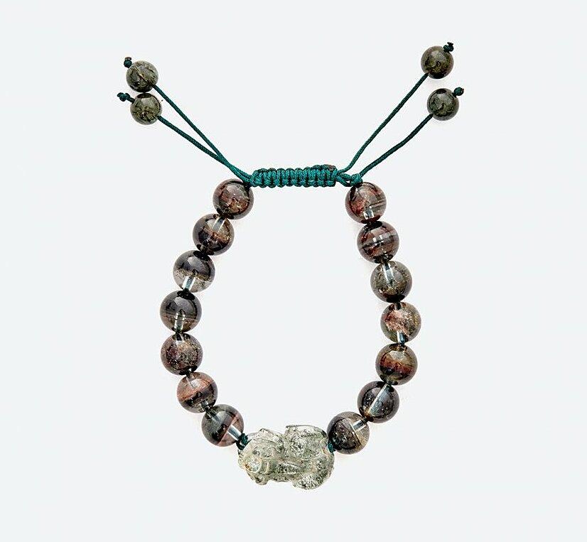 Vòng tay Mala thạch anh ưu linh rêu phối tỳ hưu Ngọc Quý Gemstones - Nhiều màu - Freesize 1.849.000đ(- 20 %),Nhiều màu