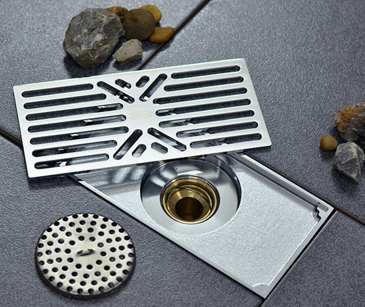 Thoát sànZ-line Zento ZT597làm từ chất liệu đồng thau mạ crom màu bạc sáng bóng, có cấu tạo 2 lớp lưới lọc ngăn tóc, rác... lọt xuống. Phần ống xả có cấu tạo 2 lớp, đọng lại nước giúp ngăn mùi hôi và chống côn trùng. Các bộ phận có thể tháo rời. Trọng lượng 820 gram, kích thước 200 x 100 x 85mm, Ø36mm, phù hợp với đường ống Ø50 - Ø90mm. Sản phẩm bảo hành 12 tháng, hiện giảm 28% còn 650.000 đồng.