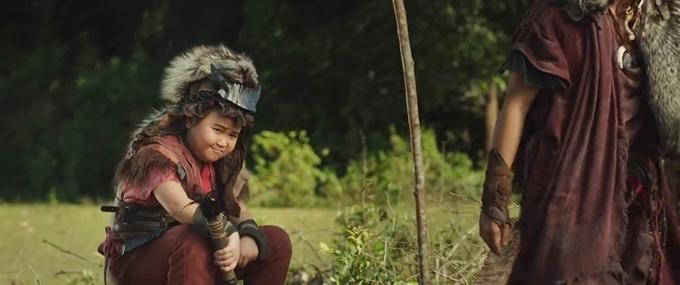 Kim Thư giả trai trong phim Trạng Tí phiêu lưu ký.
