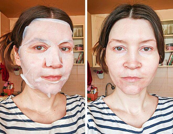 Sau hai tuần đắp mặt nạ liên tục, cô chỉ thấy làn da cải thiện đôi chút.