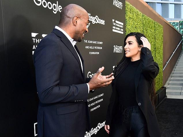 Kim trò chuyện với Van Jones tại hội nghị năm 2018.