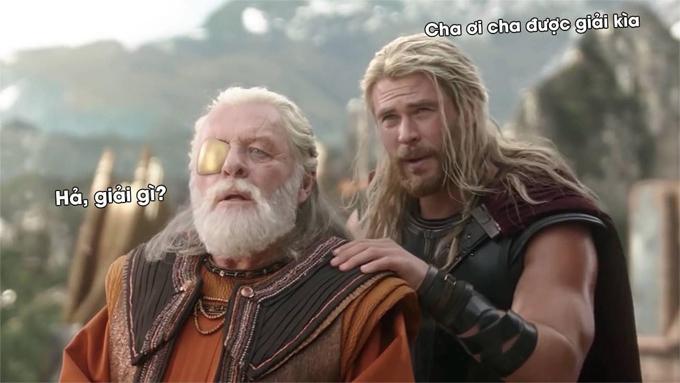 Các fan của Marvel chế ảnh vui khi Anthony Hopkins chìm trong giấc ngủ say như nhân vật Odin trong phim Thor đến mức quên cả lễ trao giải Oscar.
