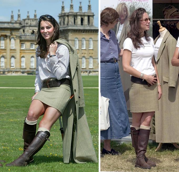 Kate lần đầu được trông thấy mang đôi boots này tại Hội chợ Trò chơi ở Cung điện Blenheim hồi tháng 8/2004.
