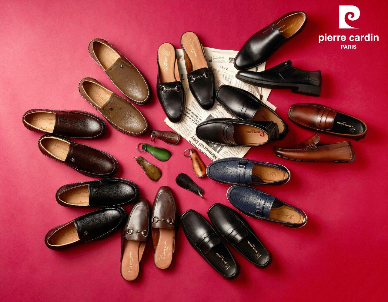 Giày da Pierre Cardin có kiểu dáng phong phú, sang trọng.
