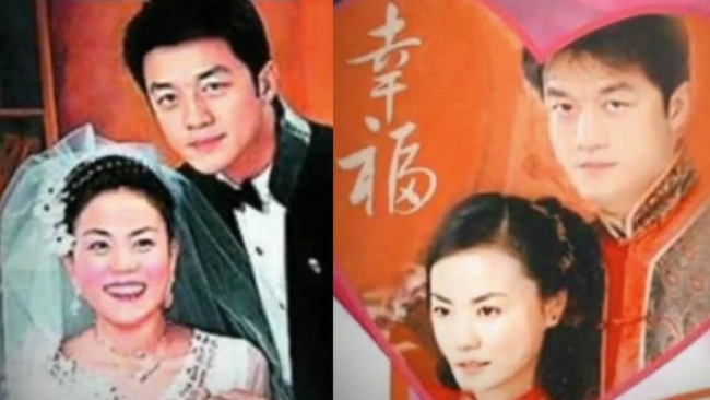 Ảnh cưới của Vương Phi, Lý Á Bằng năm 2005. Để tán đổ Vương Phi, Lý Á Bằng mỗi ngày nhắn cho cô vài chục tin nhắn.