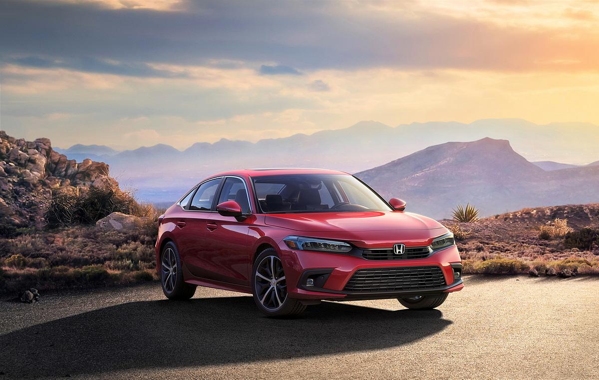 Honda Civic 2022 thay đổi hoàn toàn thiết kế ngoại thất. Ảnh: Honda