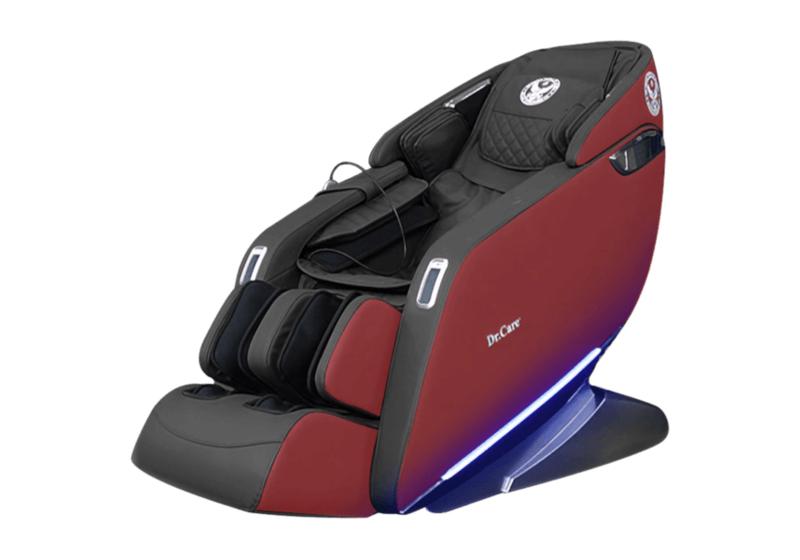 Ghế massage Dr.Care Xreal 923 màu đỏ, kích thước 188 x 77 x 84 cm. Chức năng spa massage xông nóng toàn thân kết hợp xoa bóp massage tập trung vùng gáy cổ giúp máu lưu thông dễ dàng hơn. Ghế tích hợp các bài tập yoga, kéo giãn căng cơ toàn bộ cơ thể, kéo giãn cánh tay, gáy cổ và cột sống. Một suất massage đầy đủ kéo dài 25 phút. Sản phẩm bảo hành 5 năm cho phần da ghế và 10 năm toàn bộ thân ghế và máy massage. Giá gốc 130 triệu đồng, hiện ưu đãi 47% còn 69 triệu đồng.