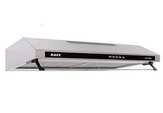 Máy hút mùi bếp 7 tấc khung inox Kaff KF-738I - Bạc 1.750.000đ (- 51 %)Với hai động cơ turbin hoạt động với công suất hút 700m3/h cực mạnhLưới lọc hợp kim nhôm Aluminum 5 lớp lọc sạch mùi dầu mỡ thải ra khi nấu nướngĐộ ồn  Thiết kế nhà phố hoặc căn hộ chung cư thường không gian bếp sẽ nối liền với phòng khách, điều này cực kỳ bất tiện đặc biệt với những gia đình nấu nướng bằng bếp gas thì những khí độc tỏa ra trong quá trình nấu như C02, C0 sẽ bay khắp nhà, về lâu dài sẽ ảnh hưởng đến sức khỏe của các thành viên trong gia đình. Sở hữu một chiếc máy hút mùi bếp 7 tấc KAFF KF-738i loại inox bạn sẽ không còn lo lắng bất kỳ điều gì về vấn đề khói mùi phòng bếp nữa.ó phím điều khiển cơ thuận tiện với 3 cấp độ hút cùng lưới lọc hợp kim nhôm 5 lớp khiến máy có thể lọc sạch dầu mỡ thải ra trong quá trình nấu nướng. Thiết kế sang trọng, độ bền cao: Vỏ máy được thiết kế bằng thép phủ men đen, sang trọng, chống gỉ giúp người dùng hoàn toàn hài lòng về mẫu mã cũng như độ bền của sản phẩm.7 tấc còn được trang bị lưới lọc đa lớp bằng nhôm có tác dụng sàng lọc dầu mỡ, tăng hiệu quả hút mùi và bảo vệ động cơ máy bên trong.Sản phẩm được thiết kế theo kiểu dáng classic (cổ điển) với chất liệu bằng inox không gỉ + kính cường lực sang trọng, sạch sẽ, giúp làm đẹp không gian phòng bếp.
