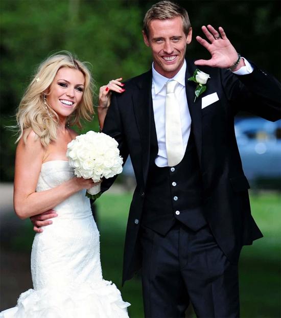 Vợ chồng Crouch trong ngày cưới năm 2011. Ảnh: PA.