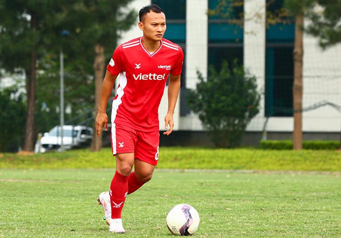 Trọng Hoàng là một trong những cầu thủ quan trọng nhất của Viettel mùa này. Ảnh: Viettel FC.