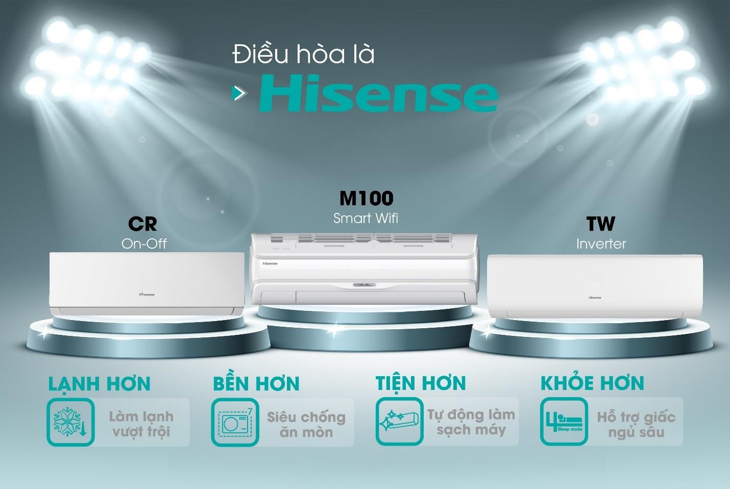 Điều hòa không khí Hisense với nhiều ưu điểm như khả năng làm lạnh tốt, bền bỉ, tiện lợi, hỗ trợ giấc ngủ sâu.