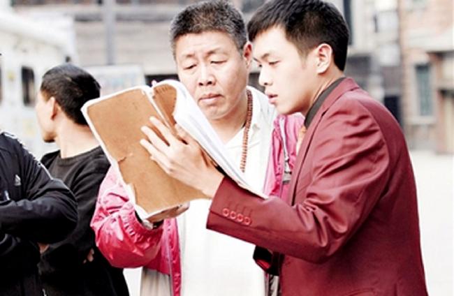Trương Nhược Quân và bố đẻ, ông Trương Kiện.