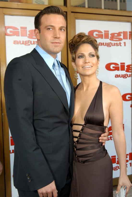 Ben Affleck và Jennifer Lopez thời còn yêu nhau.