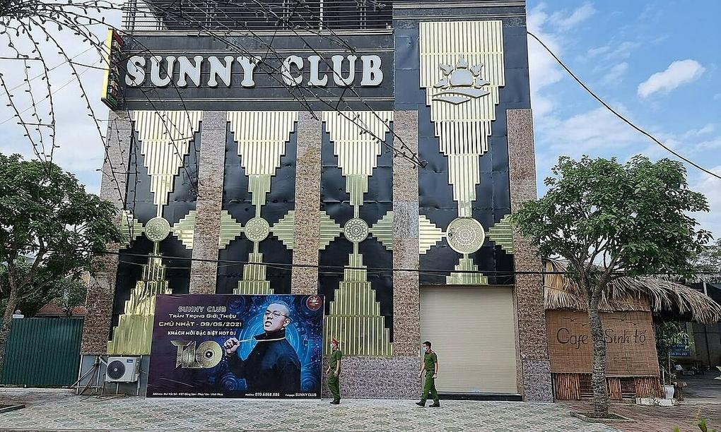 Quán bar Sunny, nơi phát hiện các ca bệnh Covid-19. Ảnh:Tuấn Dũng.