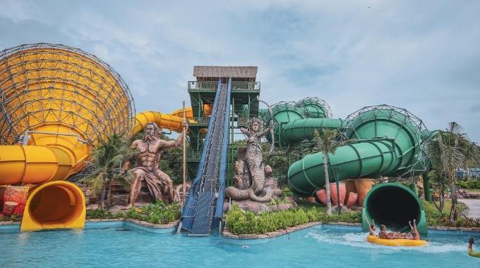 Aquatopia Water Park có hơn 20 trò chơi dành cho mọi lứa tuổi. Ảnh: Nguồn.