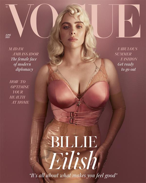 Billie Eilish đẹp cuốn hút trên trang bìa tạp chí Vogue.