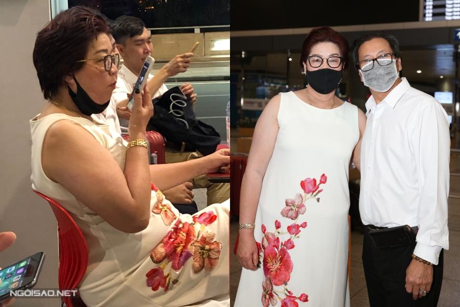 Bố mẹ ra sân bay tiễn Khánh Vân và chờ đợi con gái gọi điện thoại mới an tâm.